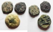 Ancient Coins - LOT OF 3 AE COINS . 2 JUDAEAN. ONE FOR ARADOS. PHOENICIA.