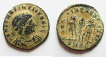 Ancient Coins - CONSTANTINE II AE 4 . DESERT PATINA