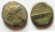Ancient Coins - SELEUKID KINGS of SYRIA. Demetrios II Nikator. First reign, 146-138 BC. Tyre mint. AE 20