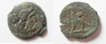Ancient Coins - Egypt Ptolemy VIII Euergetes AE 20.  Alexandria 127-116 BC