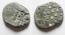 Ancient Coins - JORDAN , MEDIEVEL , SPANISH ? LEAD SEAL , 1500 - 1600 A.D , FOUND WITH SPANISH COINS