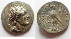 Ancient Coins - MINT STATE-HUGE FLAN: Egypt. Ptolemaic kings. Ptolemy V Epiphanes (204-180 BC) AR tetradrachm (28mm, 14.01g). Salamis mint. Struck in regnal year 20 (186/5 BC).