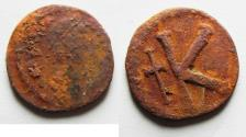 Ancient Coins - BYZANTINE. AE HALF FOLLIS