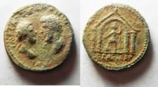 Ancient Coins - NICE AS FOUND: JUDAEA, Aelia Capitolina (Jerusalem). Marcus Aurelius & Lucius Verus. AD 161-169. Æ  29