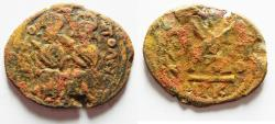 Ancient Coins - Baisan Mint- Nysa-scythopolis: ISLAMIC. Ummayad Caliphate. Post reform series (AD 696-750). AE fals