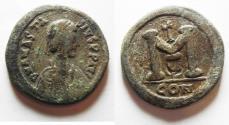 Ancient Coins - NICE ANASTASIUS AE FOLLIS