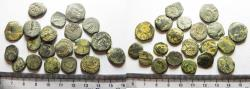 Ancient Coins - NABATAEAN KINGDOM. LOT OF 20 BRONZE COINS
