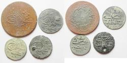 World Coins - LOT OF 4 OTTOMAN COINS. MOSTLY SILVER