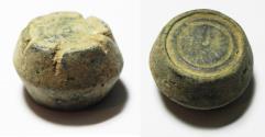Ancient Coins - ANCIENT ISLAMIC BRONZE WEIGHT. 2 UQIYYAH. 8TH CENT. A.D