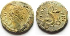 Ancient Coins - ROMAN EGYPT. HADRIAN AE DIOBOL, CHOICE QUALITY AND EXTEREMLY RARE AS FOUND
