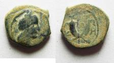 Ancient Coins - AS FOUND: NABATAEAN KINGDOM. ARETAS IV AE 15
