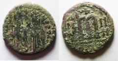 Ancient Coins - AS FOUND: BYZANTINE. PHOCAS. AE FOLLIS. ANTIOCH MINT