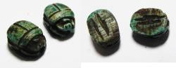 Ancient Coins - ANCIENT EGYPT. LOT OF TWO STONE SCARABS.  New Kingdom, 1400 - 1200 B.C - Egypt