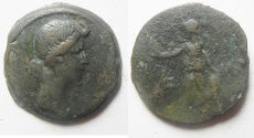Ancient Coins - Egypt. Alexandria Livia under Augustus (27 BC-AD14). AE diobol (25mm, 7.70g). year 41 (11-12A.D)