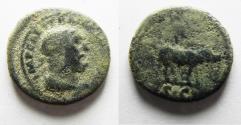 Ancient Coins - ROMAN. TRAJAN AE QUADRANS. BOAR