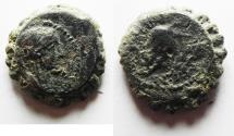 Ancient Coins - SELEUKID KINGS, Antiochos IV. AE 16 Antioch, 175-172 BC.  Elephant.