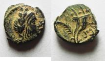 Ancient Coins - NABATAEAN KINGDOM. ARETAS IV'S SON , PHASAEL AE 13