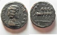 Ancient Coins - UNPUBLISHED:  Egypt. Julia Domna (Augusta, 194-217). Billon tetradrachm (25mm, 13.39g).