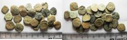 Ancient Coins - AS FOUND: LOT OF 27 ANCIENT NABATAEAN BRONZE COINS