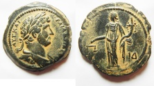 Ancient Coins - Exceptional Quality: Egypt. Alexandria under Hadrian (AD 117-138). AE hemidrachm (30mm, 13.09g). Struck in regnal year 14 (AD 129/30).