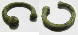 Ancient Coins - HOLY LAND. IRON AGE PRE-COINAGE CURRENCY BRACELET SHAPED BRONZE INGOT. 800 B.C
