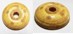 Ancient Coins - ANCIENT ROMAN IVORY SPINDLE WHORL. 100 - 200 A.D