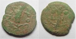 Ancient Coins - JUDAEA. PROCURATORS, M. AMBIBULUS. 9-12 AD. AE PRUTAH