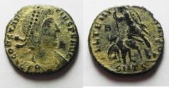 Ancient Coins - CONSTANTIUS II AE 3 . DESERT PATINA
