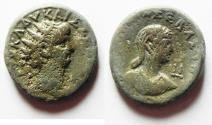 Ancient Coins - EGYPT, Alexandria. Nero. 54-68 AD. AR Tetradrachm with Poppaea