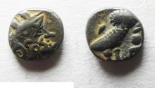 Ancient Coins - South Arabia. Sabean kingdom. Late 4th-mid 2nd centuries BC. AR eighth unit (8mm, 0.54g). Imitating Athens.