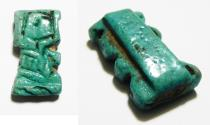 Ancient Coins - ANCIENT EGYPT. NICE FAIENCE AMULET OF SHU . 600 - 300 B.C