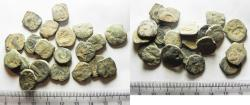 Ancient Coins - AS FOUND: LOT OF 20 ANCIENT NABATAEAN BRONZE COINS