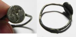 Ancient Coins - BYZANTINE SILVER RING, VIRGIN & CHILD. 10TH CENT. A.D