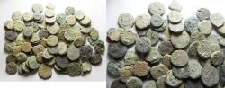 Ancient Coins - AS FOUND. IN IT'S ORIGINAL STATE: LOT OF 81 JUDAEAN BRONZE COINS