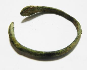 Ancient Coins - HOLY LAND. IRON AGE BRONZE BRACELET WITH SNAKE HEADS. 800 B.C