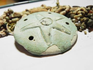 Ancient Coins - ANCIENT HOLY LAND, PHOENICIAN OR EGYPTIAN FAIENCE PENDANT WITH BEADS. 500 B.C