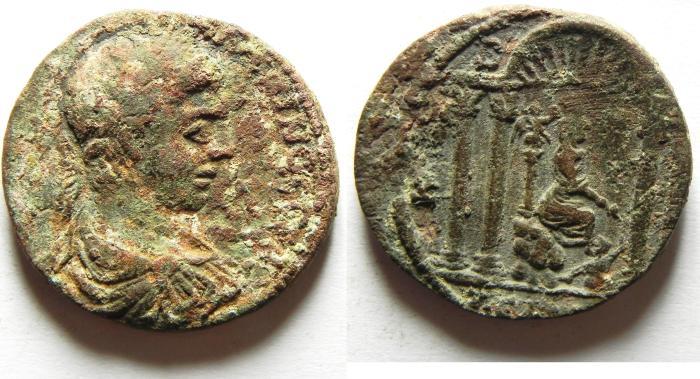 Ancient Coins - DECAPOLIS - GADARA , ELAGABALUS AE 30 , VERY RARE AND BEAUTIFULL COIN!!!!!