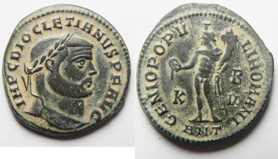 Ancient Coins - Diocletian. A.D. 284-305. Æ follis. Antioch