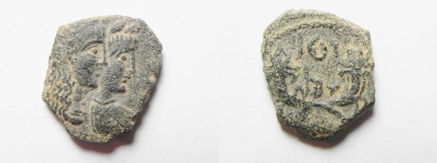 Ancient Coins - Nabataea Rabbel II 71-106 AD AE 15. BEAUTIFUL PORTRAITS