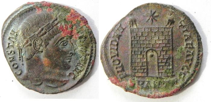 Ancient Coins - CONSTANTINE I AE 3 , HIGH QUALITY ,NEEDS SOME CLEANING