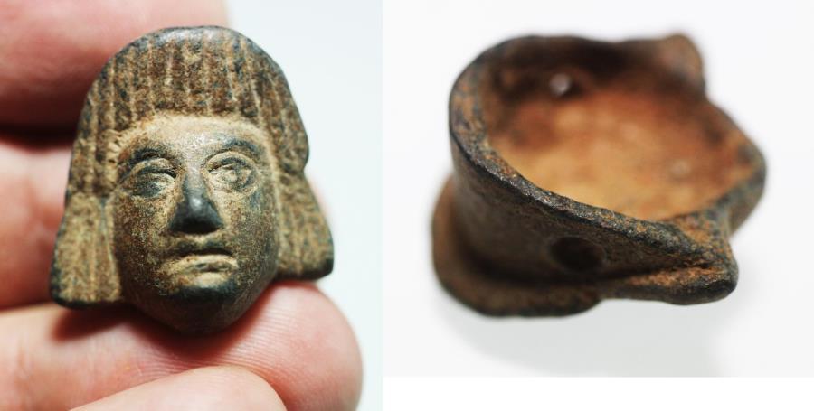 Ancient Coins - ANCIENT ROMAN BRONZE FRAGMENT. 100 - 200 A.D