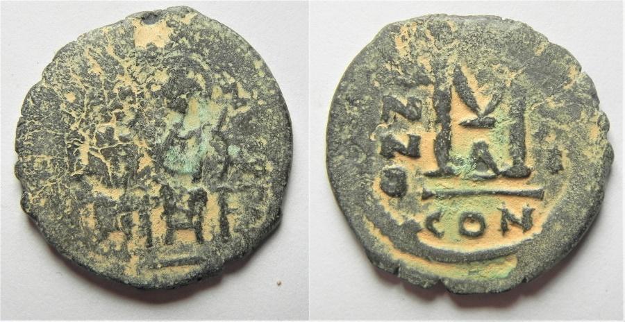Ancient Coins - JUSTIN II & SOPHIA AE FOLLIS