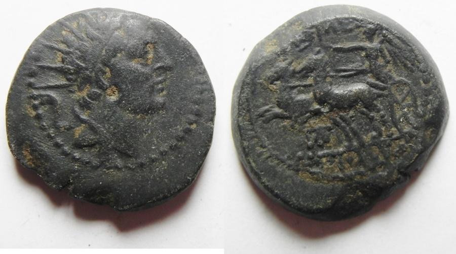 Ancient Coins - SELEUCID KINGDOM, ANTIOCHUS IV EPIPHANES. AE 19. MINT OF AKKO / JUDAEA