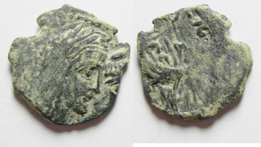 Ancient Coins - Greek. Nabataea. Nabataean Kings. RABBEL II AE 15