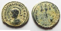 Ancient Coins - LICINIUS II AE FOLLIS. ORIGINAL DESERT PATINA