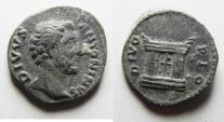 Ancient Coins - BEAUTIFUL AS FOUND: Divus Antoninus Pius. Died AD 161. AR Denarius (18.5 mm, 3.22 g). Rome mint. Struck under Marcus Aurelius and Lucius Verus, AD 161