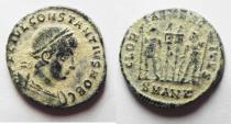 Ancient Coins - CONSTANTIUS II AE 3 . NICE DESERT PATINA