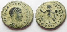 Ancient Coins - CONSTANTINE I THE GREAT. FOLLIS. ARLES MINT. AS FOUND