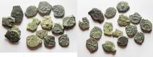 Ancient Coins - 15 Ancient Biblical Widow's Mite Coins of Alexander Jannaeus . AS FOUND!