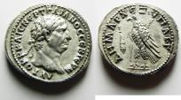 Ancient Coins - MINT STATE & BEST EXAMPLE EVER OFFERED: PHOENICIA, Tyre. Trajan. AD 98-117. AR Didrachm